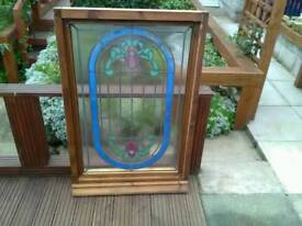 Glass panel in frame