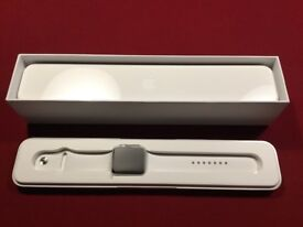 Apple Watch S1 42MM Silver / White Sport Band with Accessories