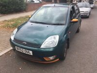 Ford Fiesta Zetec 1388cc Petrol 5 speed manual 5 door hatchback 52 Plate 02/09/2002 Green