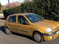 Renault Clio 1.4 V plate selling for tyres and parts due to gear box failure. Collection Only