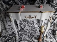 beautiful side table or touraine dressing table.