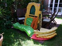 SOLD SOLD SOLD SLIDE and CLIMBER Little Tikes Jungle Climber Coulours not faded.