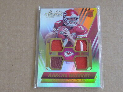 Used, 2014 Panini Absolute AARON MURRAY QUAD JERSEY PATCH CHIEFS BALL /99 E6427 for sale  Freeport