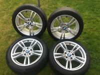 BMW 18 INCH 400M STYLE GENUINE ALLOY WHEELS WITH PREMIUM RUNFLAT TYRES 3 SERIES F30 E90