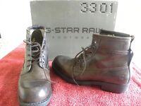 G-Star raw Legion Holst Dark Brown Leather boots. Size 6