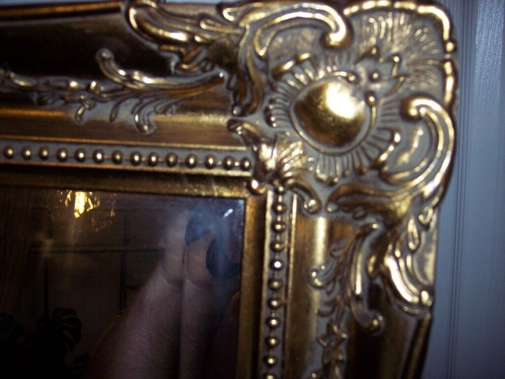 Antique framed styled gold mirror