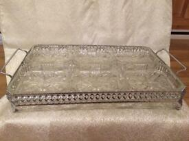 Vintage glass serving dishes