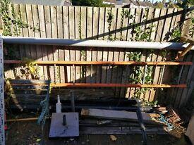 3.6m scaffold ladder £60 and also a theodolite tripod £10