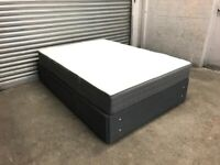 FREE DELIVERY IKEA BALESTRAND GREY DIVAN BED WITH DRAWER & MATTRESS GREAT CONDITION