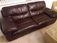 Leather sofa comfortable good condition