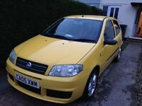 Yellow Fiat Punto Active Sport 1.2. MOT Until July Well looked after