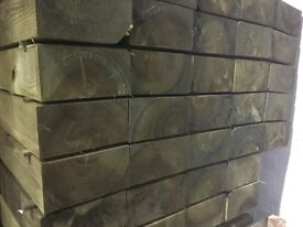 Railway sleepers 200x100x2400mm pressure treated green/brown
