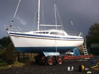 Leisure 23SL Sailing Boat/Yacht with tender & outboard at Kielder, Northumberland