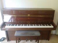 88 Key acoustic upright piano with stool
