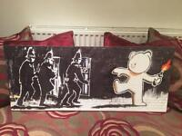 Very Cool Banksy Print Canvas - FREE LOCAL DELIVERY
