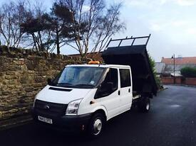 Ford Transit T350 Double Cab Tipper, Low Miles 58,000