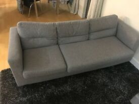 Selling 3 seats Sofa grey color