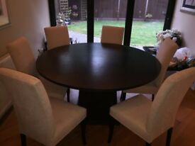 Oval dining table - Black - NO CHAIRS