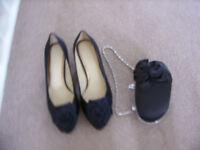Black Shoes and handbag