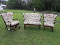 Rocking Chair+ Cottage Style Wingback 2 Seater and Chair
