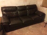Leather Settees - 3 Seater and 2 Seater