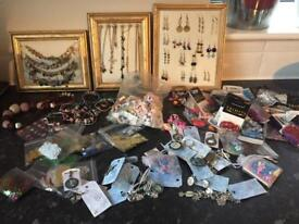 Bumper load of jewellery for craft party Christmas fayre