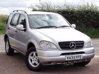 Mercedes-Benz ML270 CDI Auto, 2000 / X Reg, Silver, 114k Miles, MOT: March 2018, Tow Bar