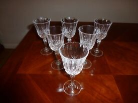 Cut Glass Wine Glasses