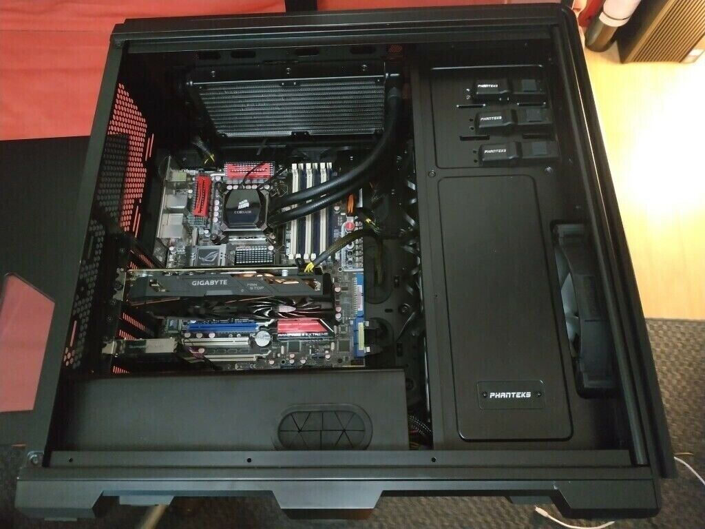 Gaming PC, Xeon X5650, ASUS Rampage II Extreme X58, 12GB DDR3 1866MHz  (3x4GB), RX 570, 256GB SSD   in Barnsley, South Yorkshire   Gumtree