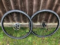 Planet X wheels with Shimano gears