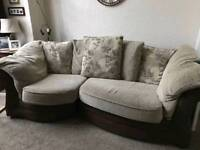 3 seater couch and matching footstool