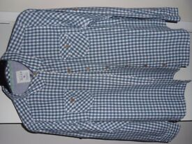 Blue and white check shirt from the Country Rose collection - Edinburgh Woollen Mill size Lg