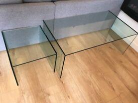 Glass Coffee Table Set