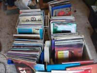 JOB LOT OF WELL OVER 200 x LP RECORDS FEW SINGLES ALL SORTS FROM HOUSE CLEARANCE