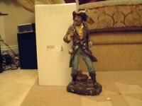 Pirate with pistols figurine, large, boxed very detailed figurine /collectable