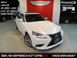 2014 Lexus IS 250 AWD| NAVI|$191 BW |1YR FREE WARRANTY