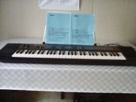 Yamaha DX 27S 5-octave keyboard, touch sensitive keys, good condition, with instruction books. £50