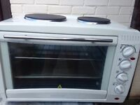 Electric camping oven, grill & hob