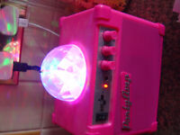 kids pink party amp