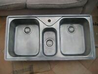 Kitchen Sink FRANKE 2 Bowl Stainless Steel Sink £40