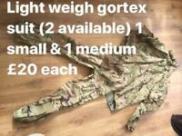 Light weight gortex suit