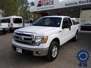 White 2014 Ford F-150 XLT 4WD SuperCab, 5.0L V8, 38,781 KMs