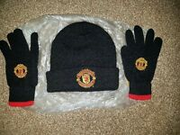 Manchester united beanie hat & mitts