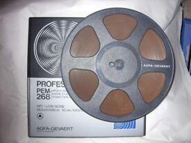 """AGFA Professional PEM268 4200ft reel-to-reel tape on 10.5"""" plastic spool"""