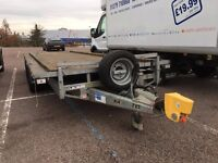 Large Ifor Williams Flatbed Trailer LM 186, load area 5.5m x 2m