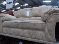 2 Seater Cream and floral desgin sofa 33853A