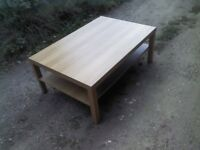 light brown ikea coffee table good condition