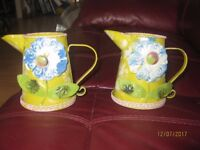 """2 Ornamental decorative jugs. Approximately 5"""" in height"""