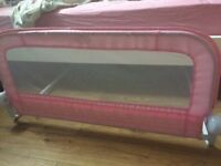 Pink bed guard / bed rail