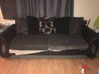 Large grey & black sofa
